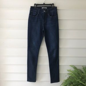 Levi's high rise skinny dark wash size 27 jeans